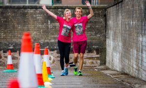 Ryan and Lexi have three-legged world record all tied up in Arbroath with time to spare