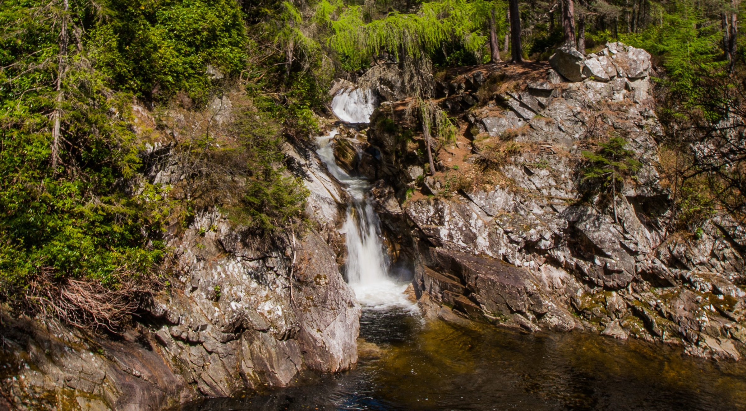 A section of the Falls of Bruar.