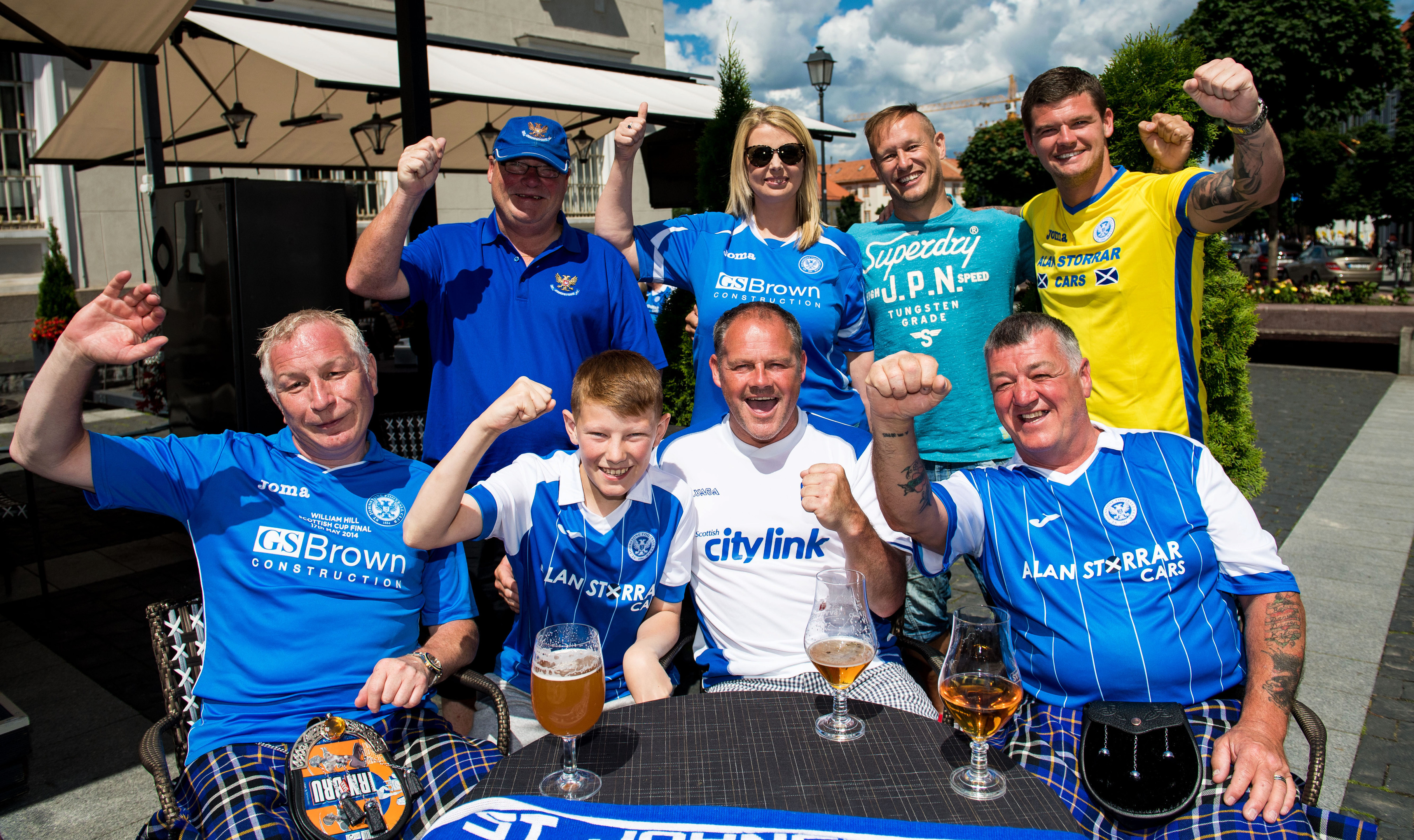 St Johnstone fans ahead of the match.