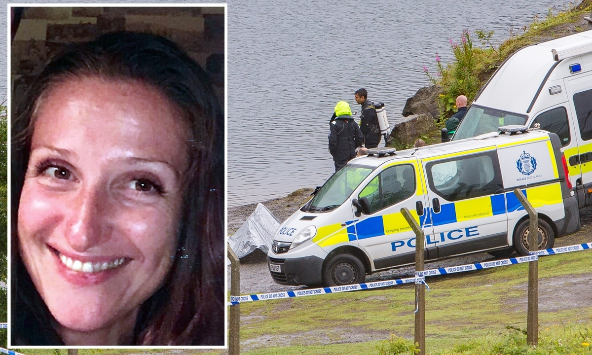 The search under way for (inset) Kelda Henderson.