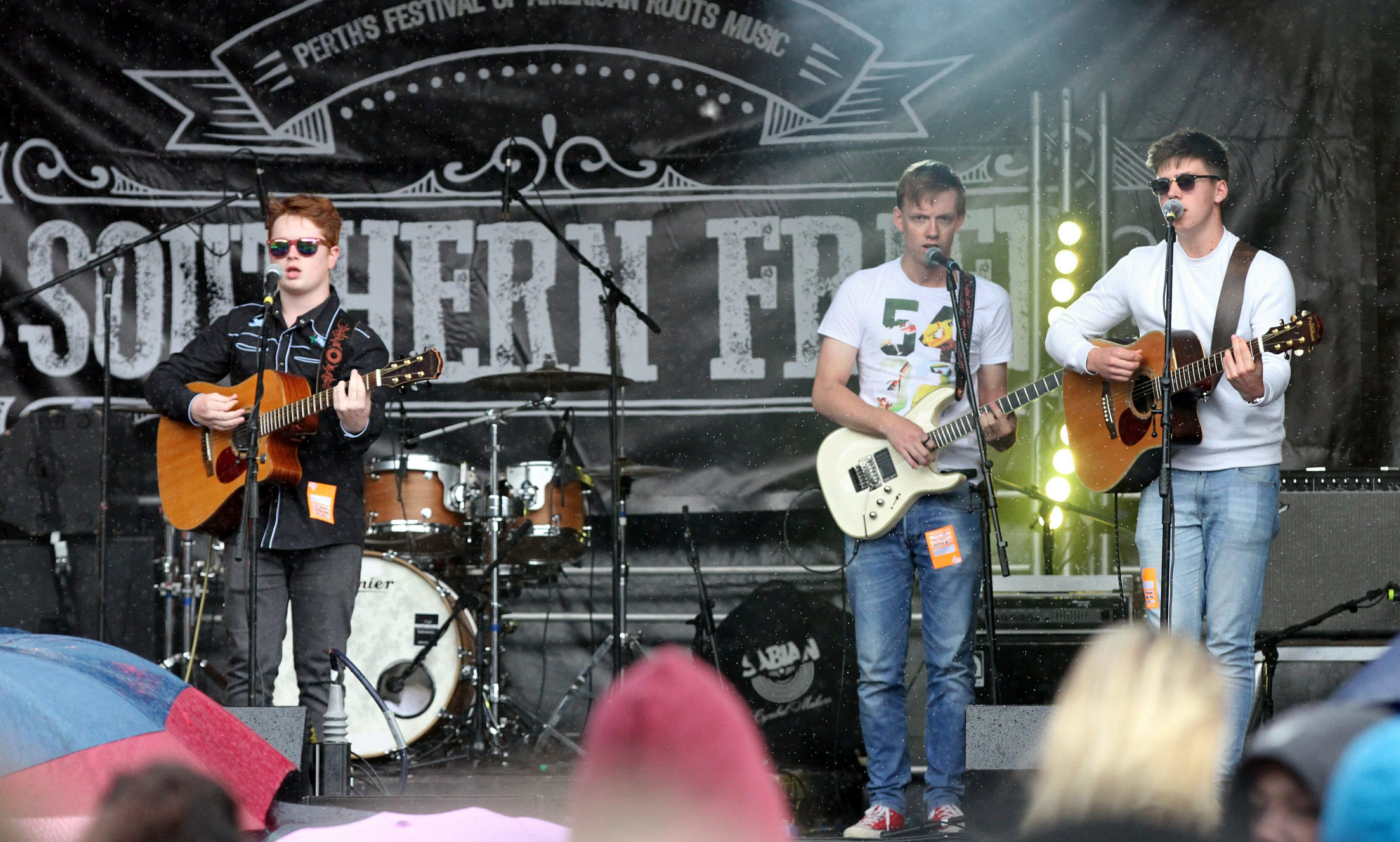 The outdoor stage proved a major draw at the 10th annual Southern Fried Festival