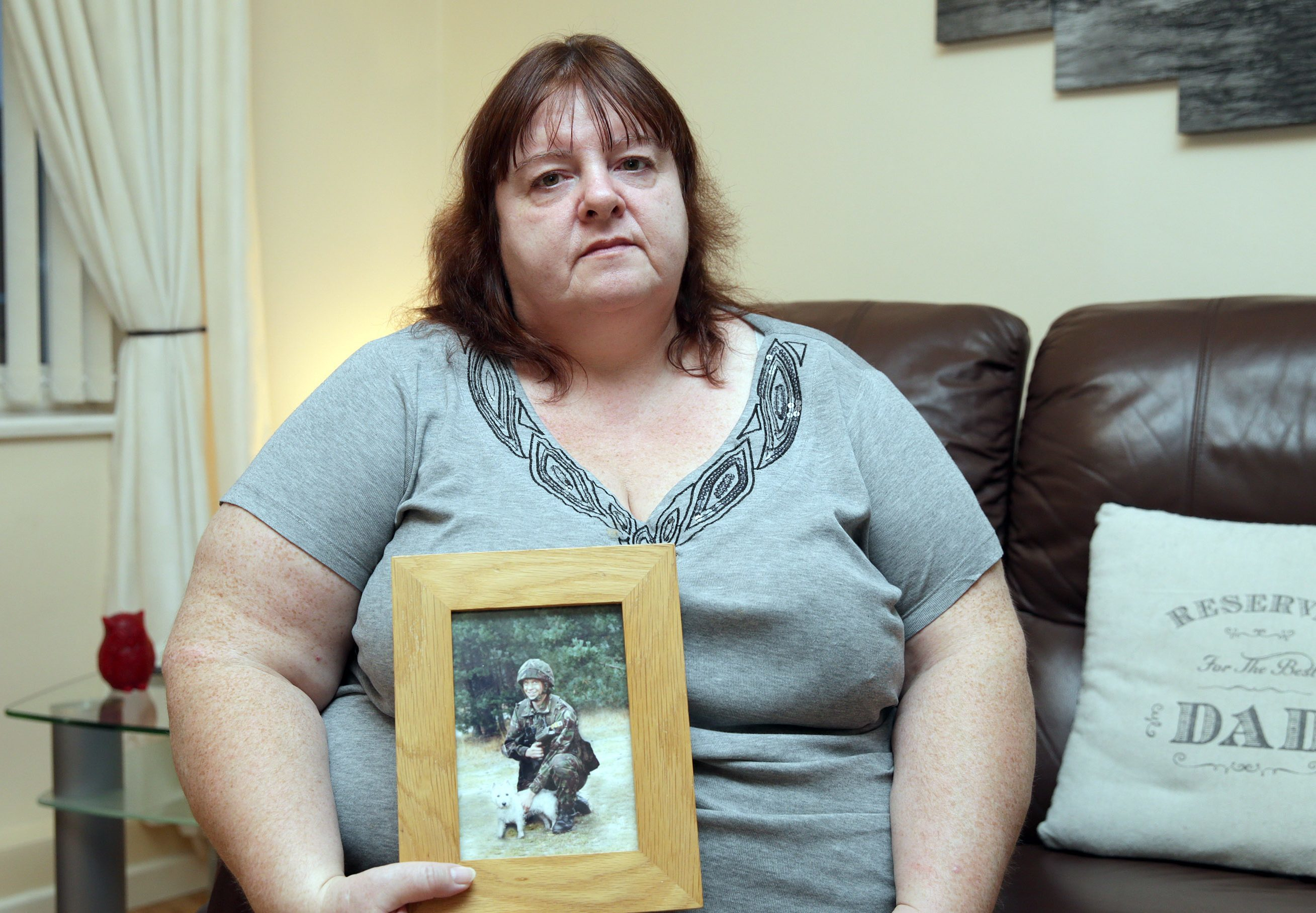Yvonne Heath with a picture of her late son James.