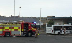 Arbroath bus station fire alert drama