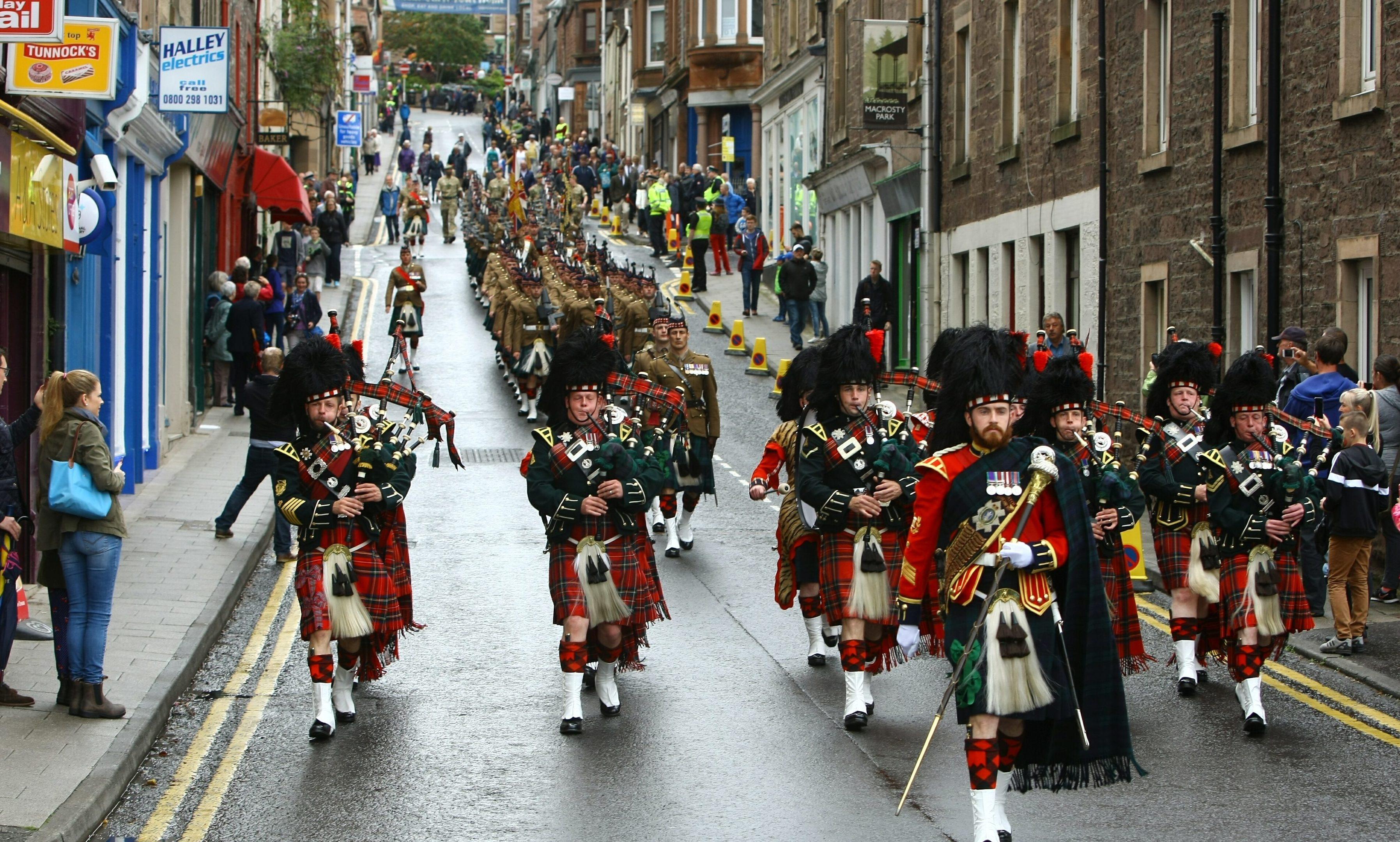 The Passchendaele procession in Crieff