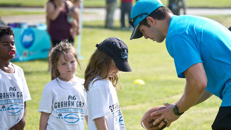 Graham Gano puts the kids through their paces. The Carolina Panthers kicker  ... 3ec83edef