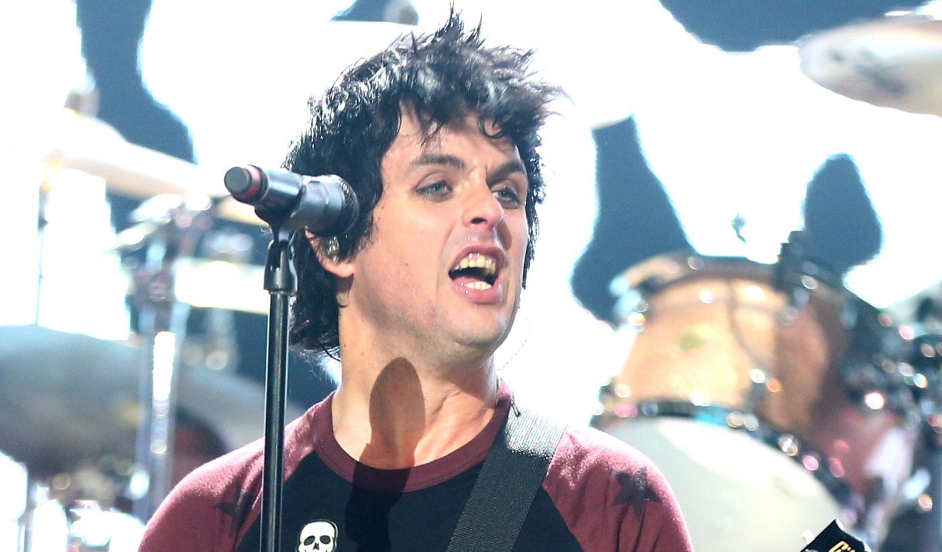 Billie Joe Armstrong of Green Day.