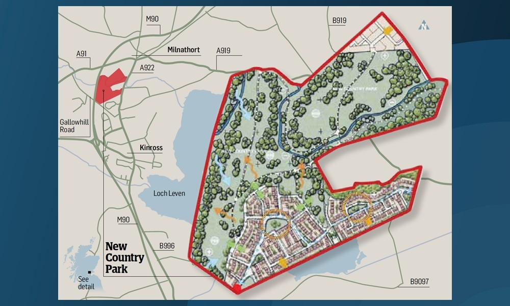 The proposal to build 300 new homes has sparked concerns about the future of green space in Kinross-shire.