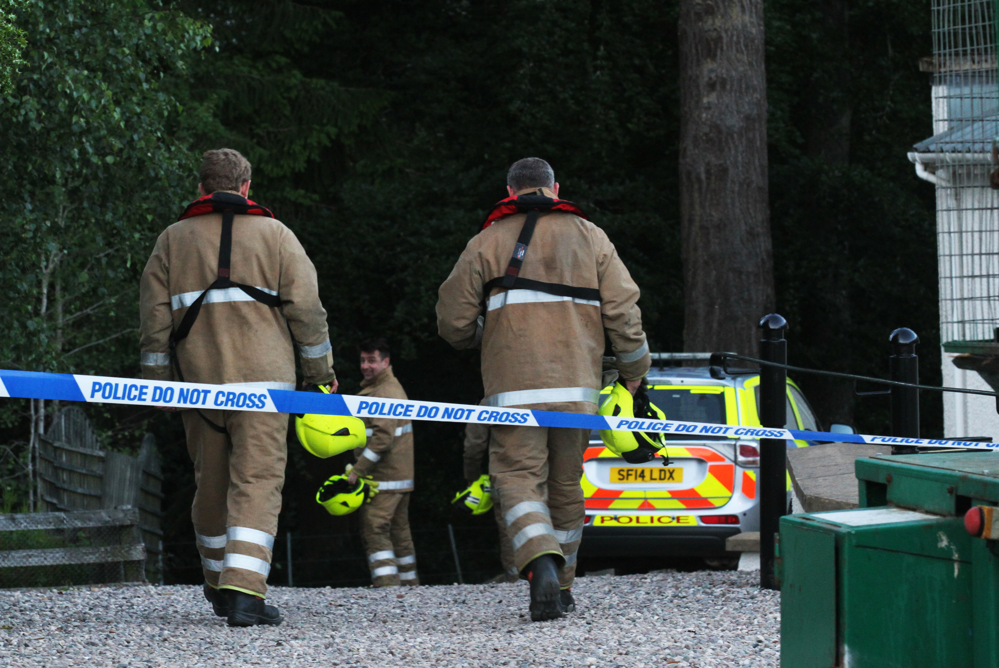 Fire and rescue crews going down to the scene after the tragedy in July.