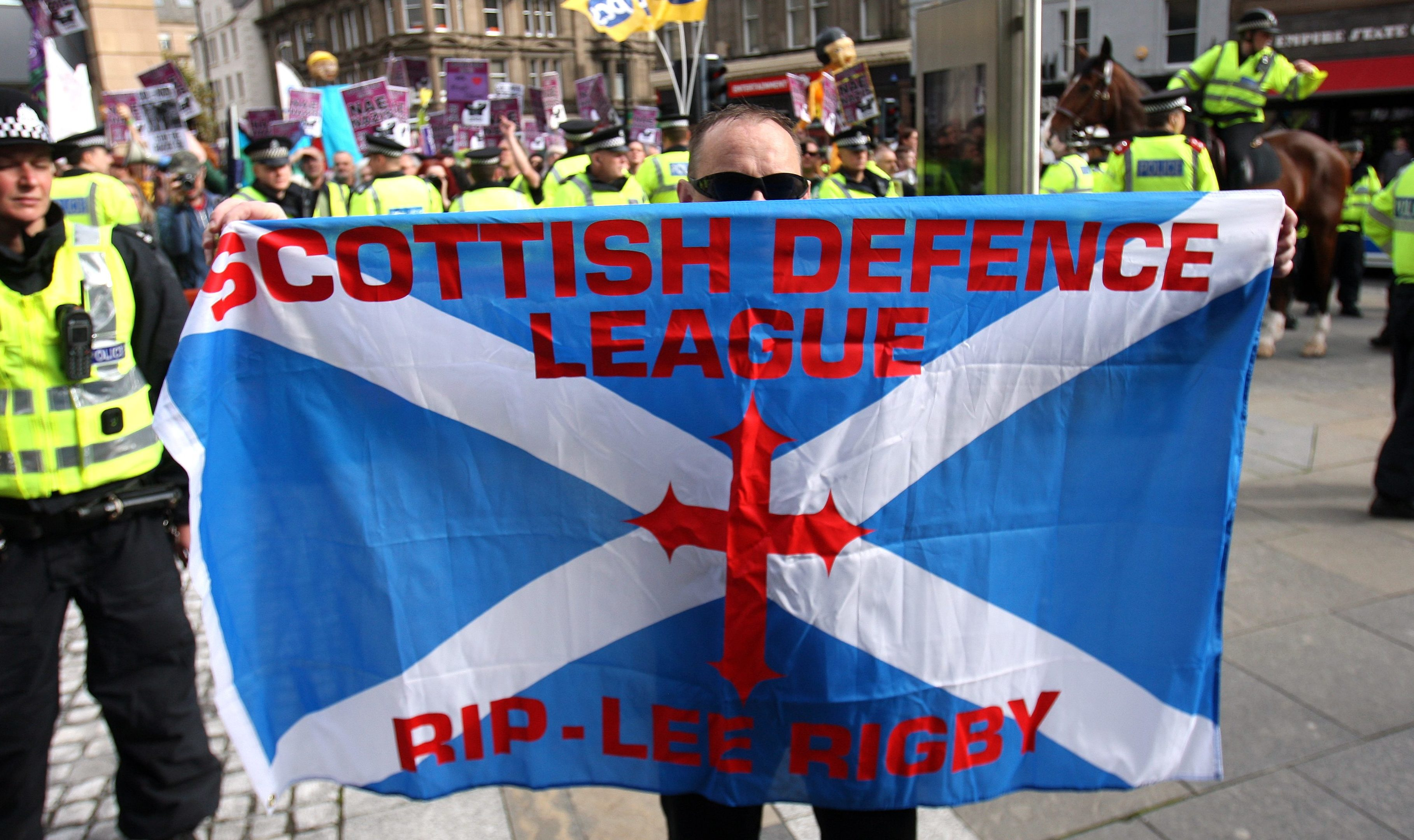 An SDL and EDL protest in Dundee.