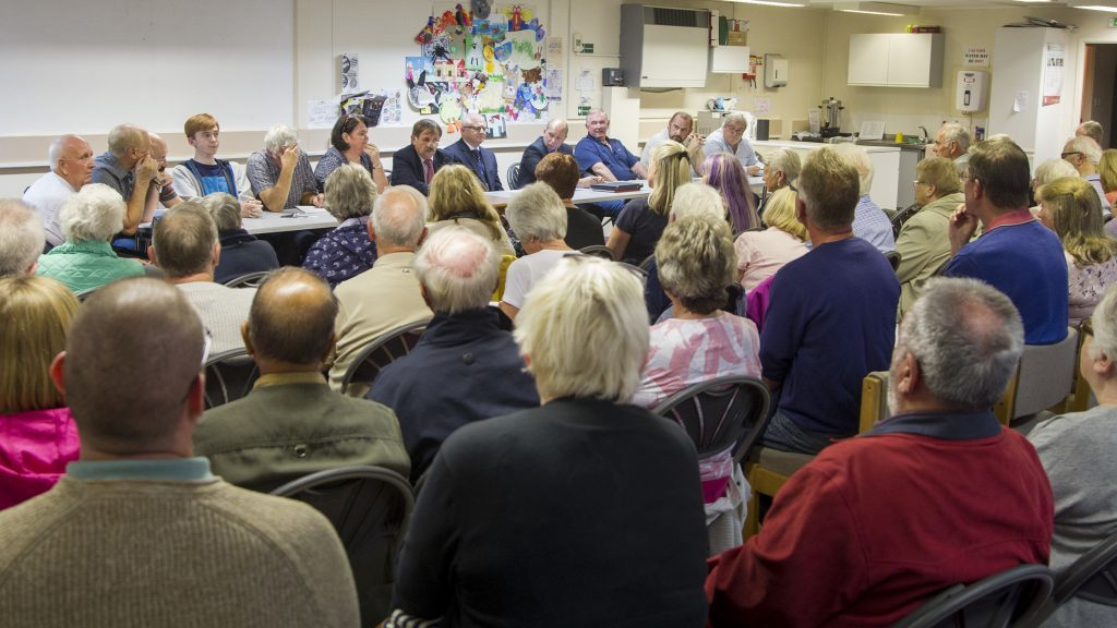 Monifieth Community Council meeting to discuss the future of Monifieth's recycling facility in August 2017