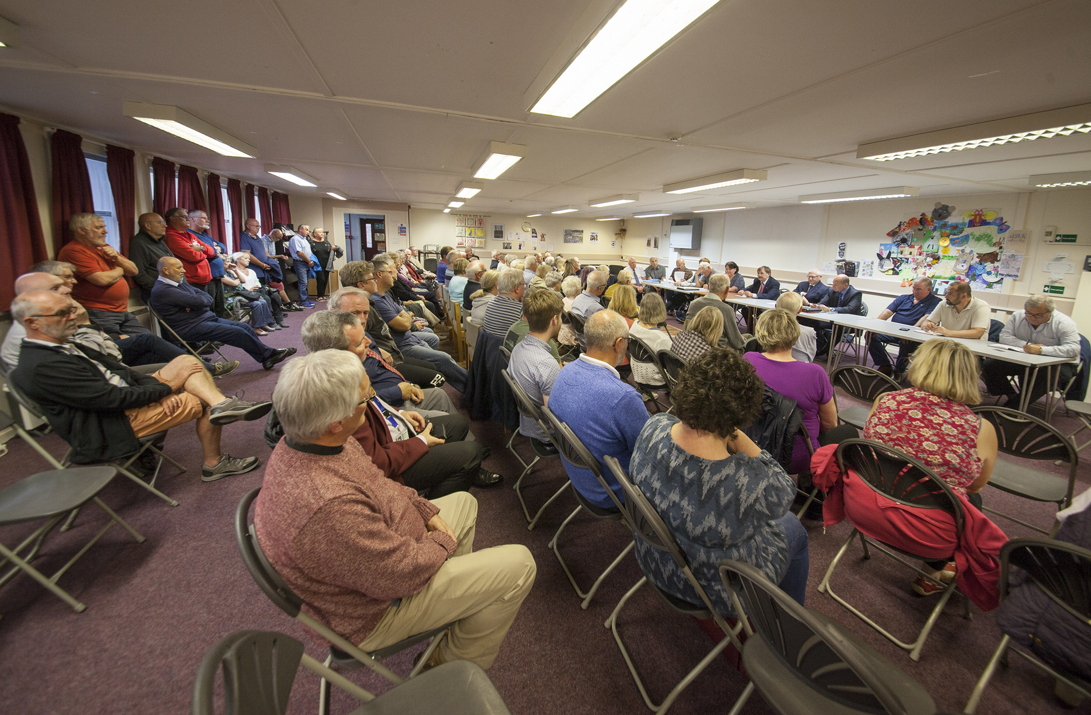 A packed public meeting debated plans to close Monifieth