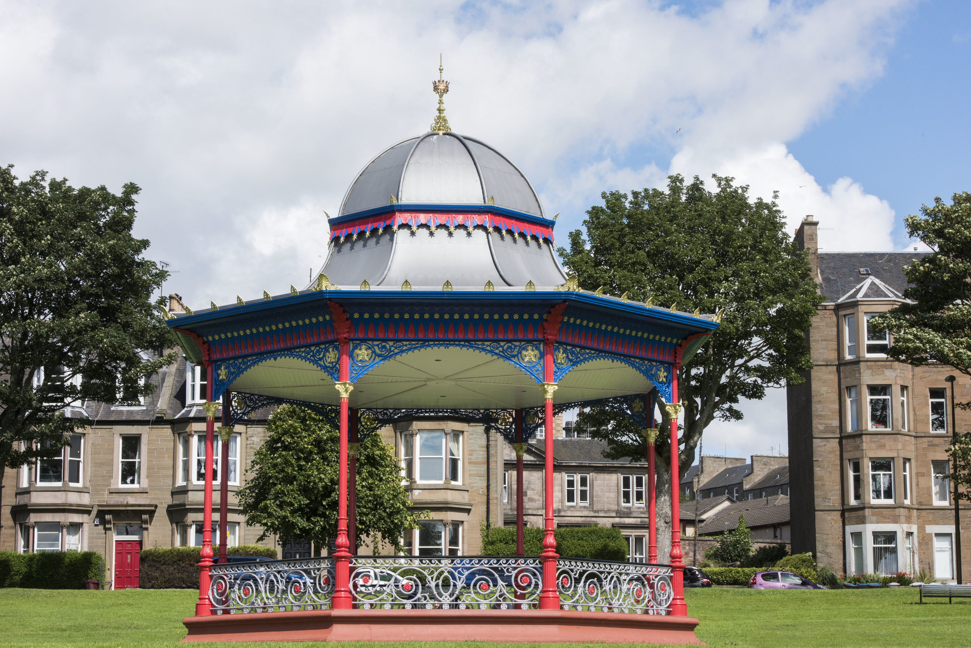 The Magdalen Green bandstand.