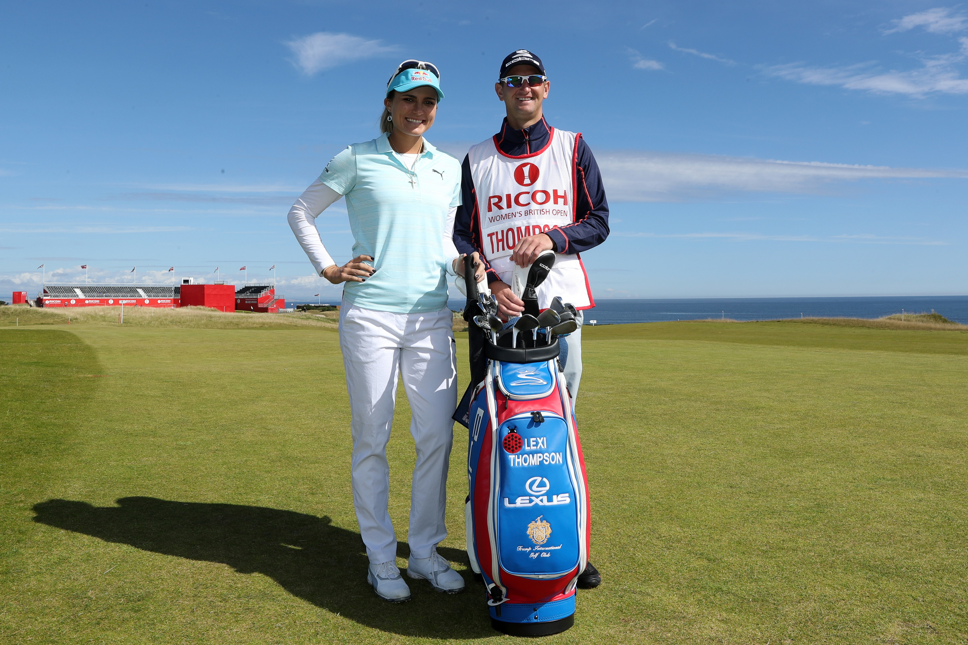Lexi Thompson and caddie Kevin McAlpine, whose local knowledge could be crucial in this week's RICOH Women's British Open.