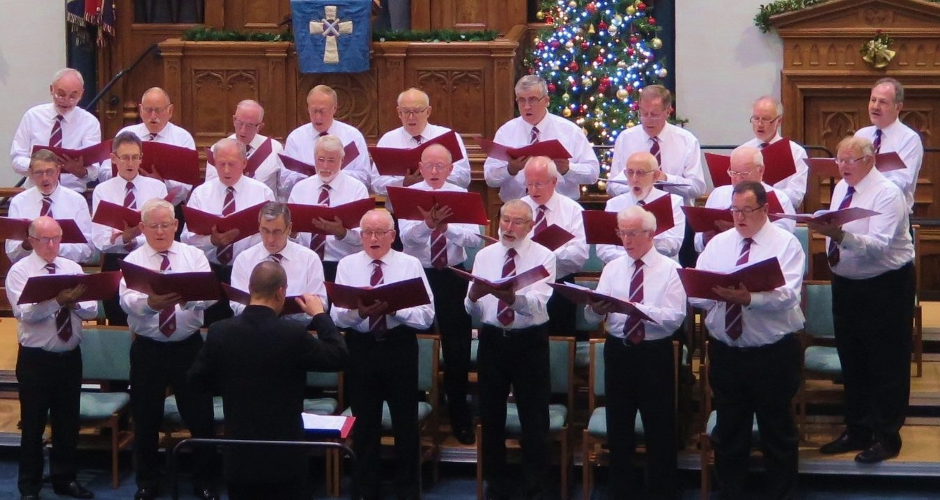 The choir performing at Christmas.