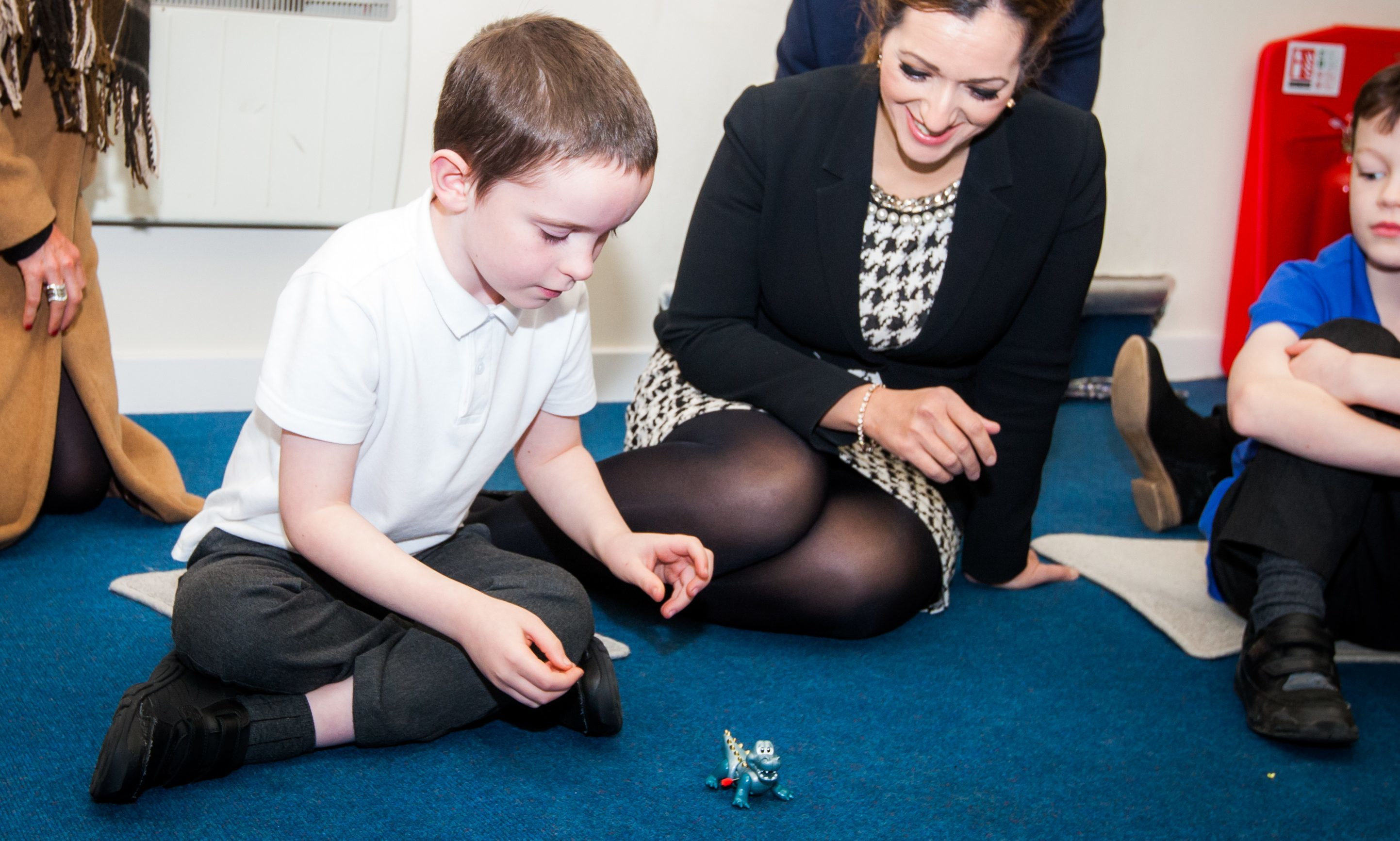Tasmina Ahmed-Sheik during a visit to Perth Autism Support in November 2016.