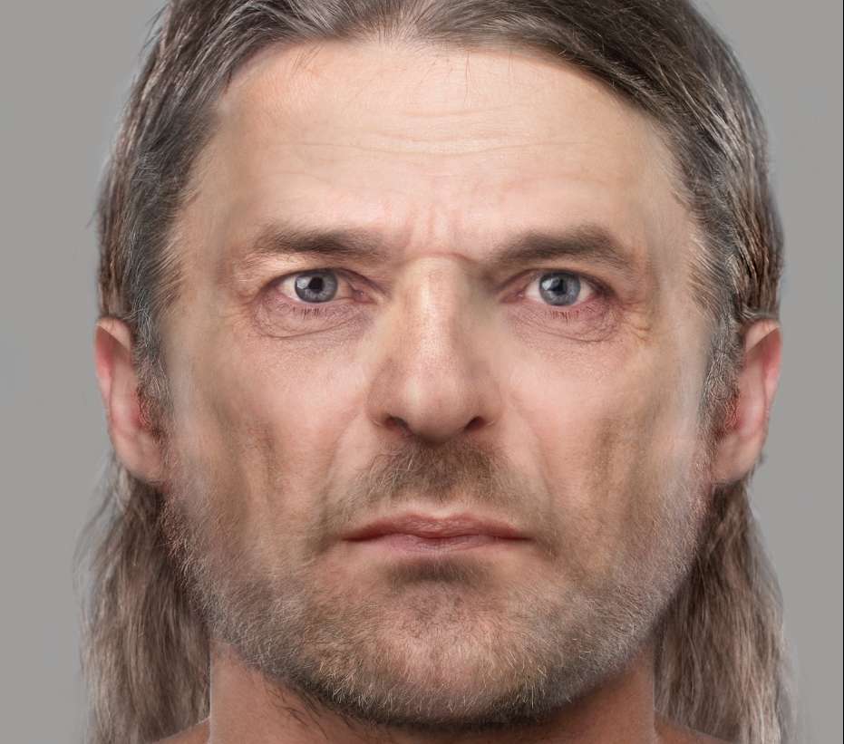 Facial reconstruction of the skeleton found at Bridge of Tilt.