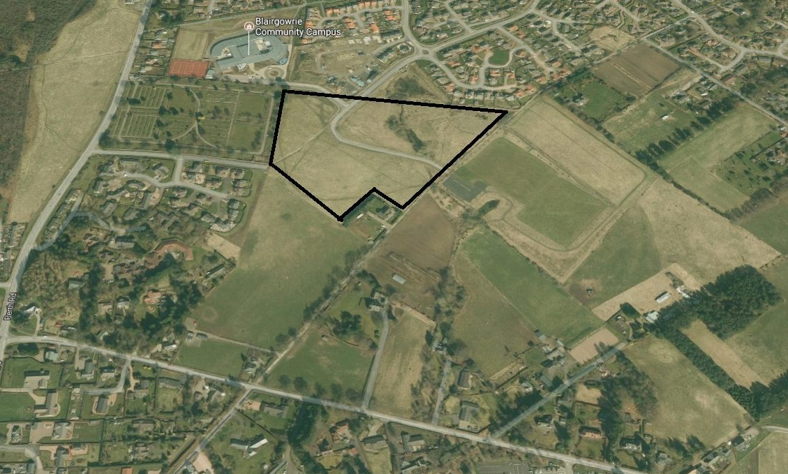 Map shows Stewart Milne site on edge of Blairgowrie