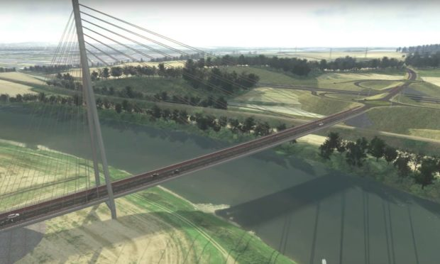 An image of how the Cross Tay Link Road might look.