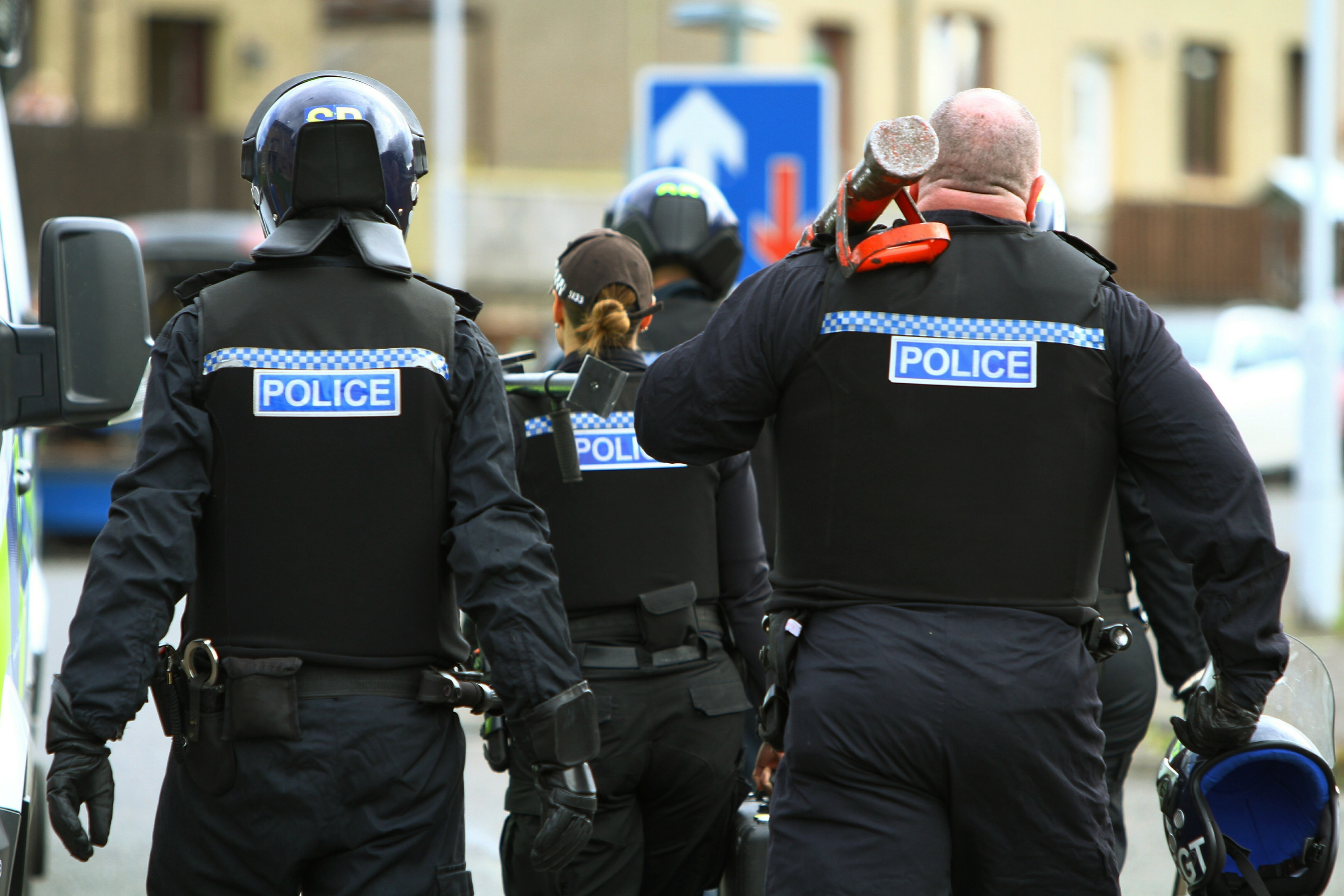 Police on a drugs bust in Fife.