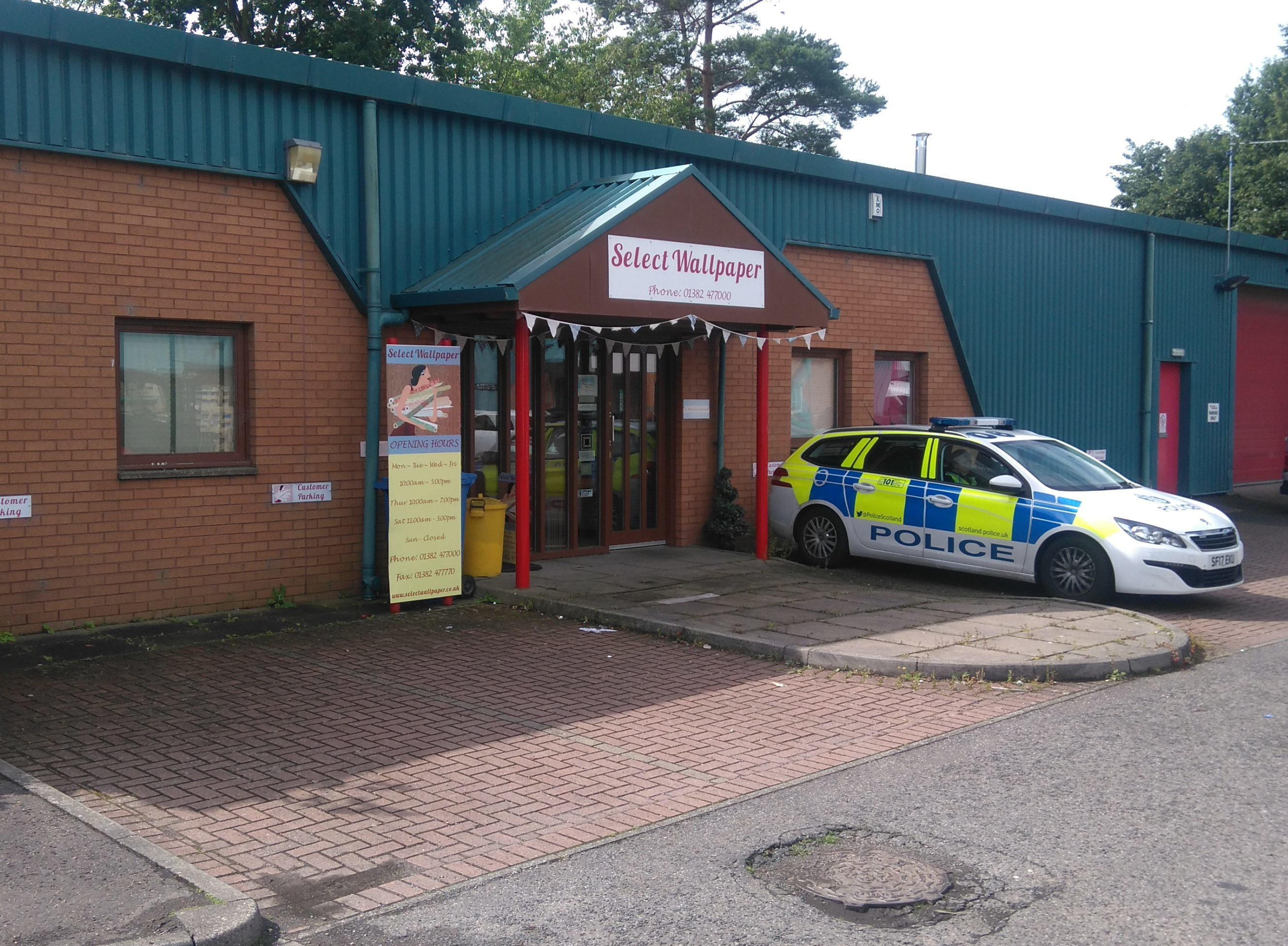 Police remained at the shop on Thursday morning.