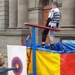VIDEO: Boy breaks rules to dunk jester at Perth medieval fayre