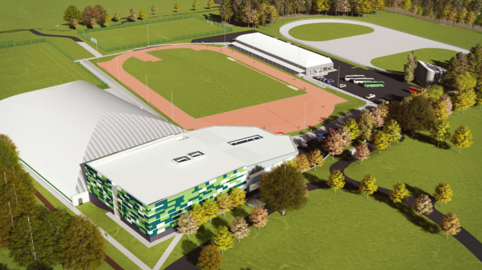 An impression of how the completed Regional Performance Centre for Sport will look.