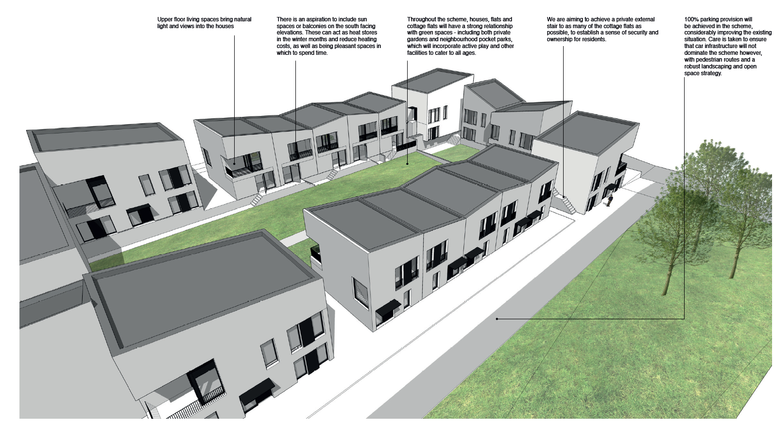 An example of what the new homes in the area would look like.