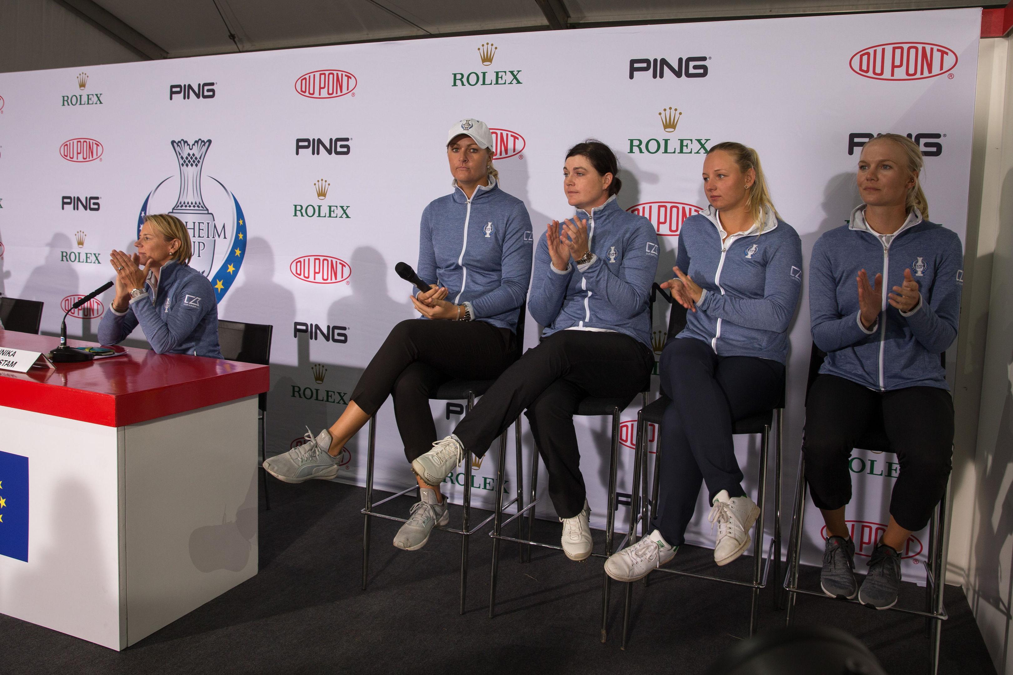 Annika Sorenstam announces her 4 wildcard picks, Anna Nordqvist, Caroline Masson, Emily Pedersen and Madelene Sagstrom.