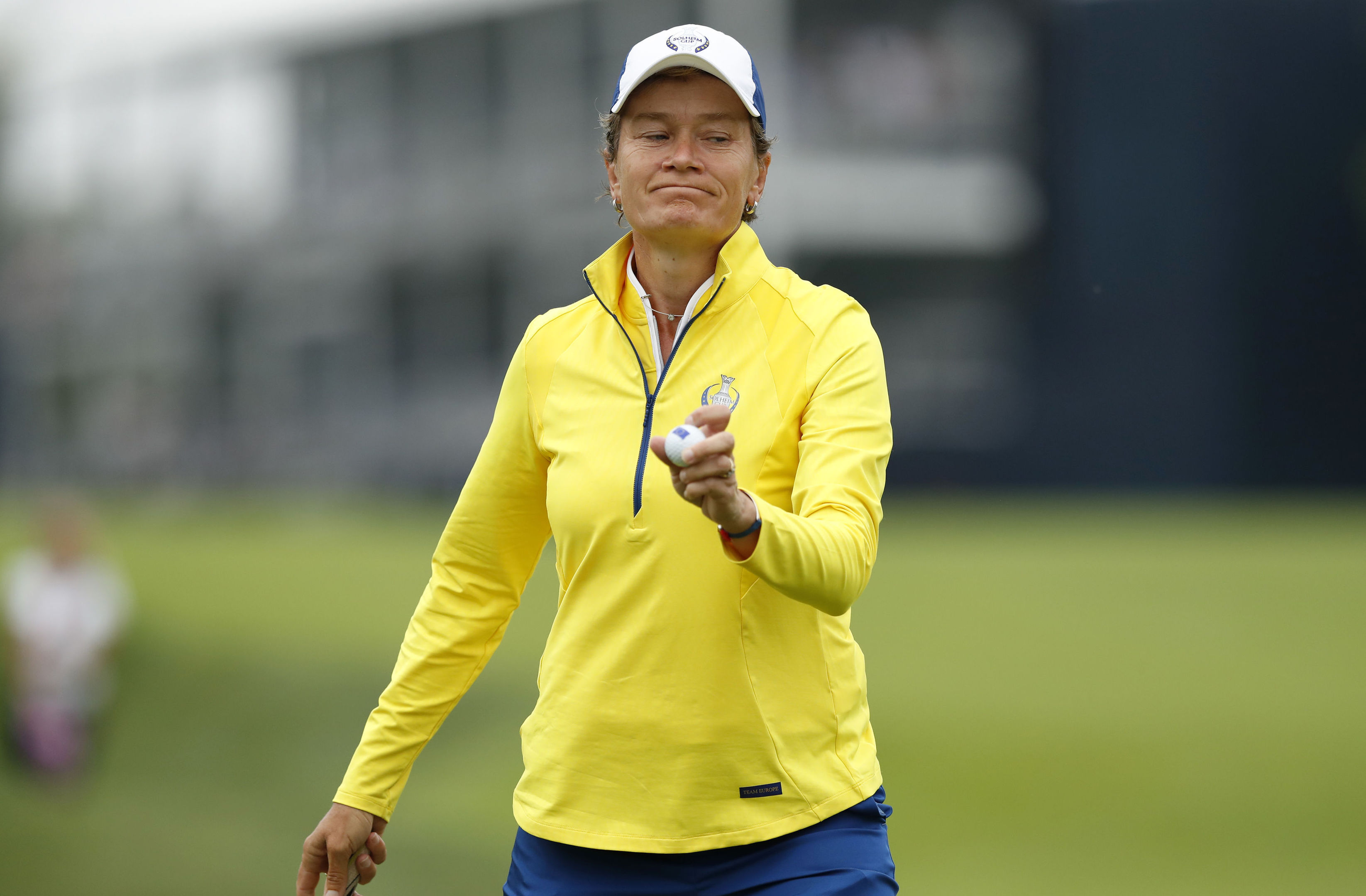 Catriona Matthew finished her Solheim Cup career with the best singles record in the history of the event.