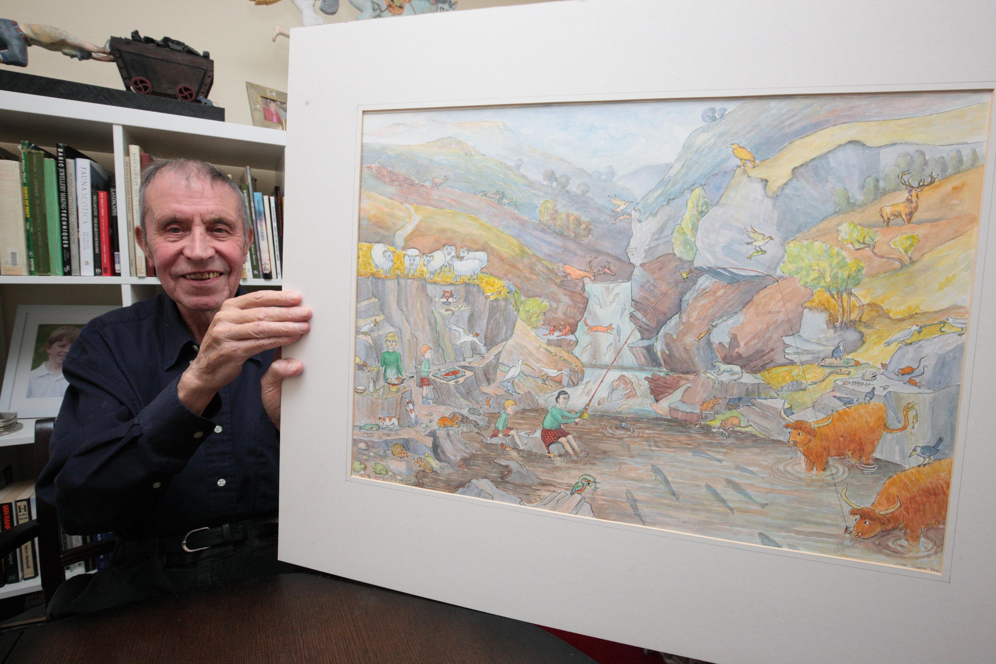 Retired art teacher Jim Douglas recalls the royals in happier times.