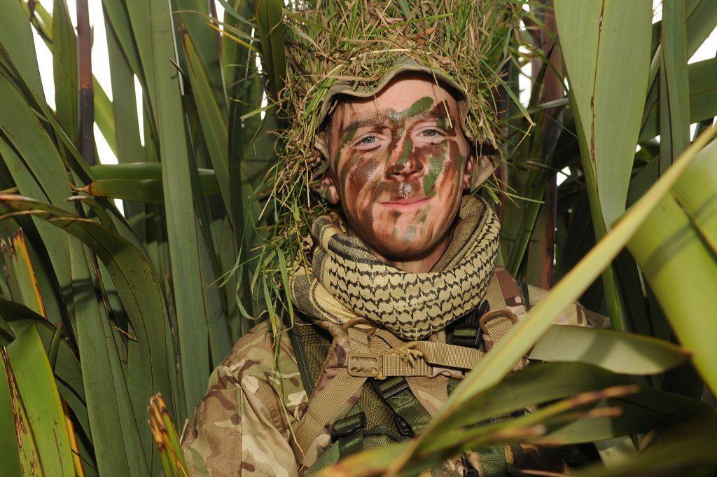 Gunner Joe Davidson from the Arbroath Royal Artillery.