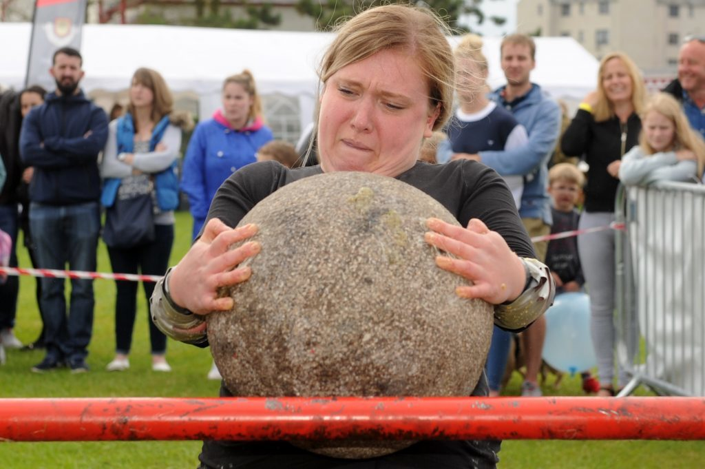 Jolene McGurk competing in the Strongwoman competition.