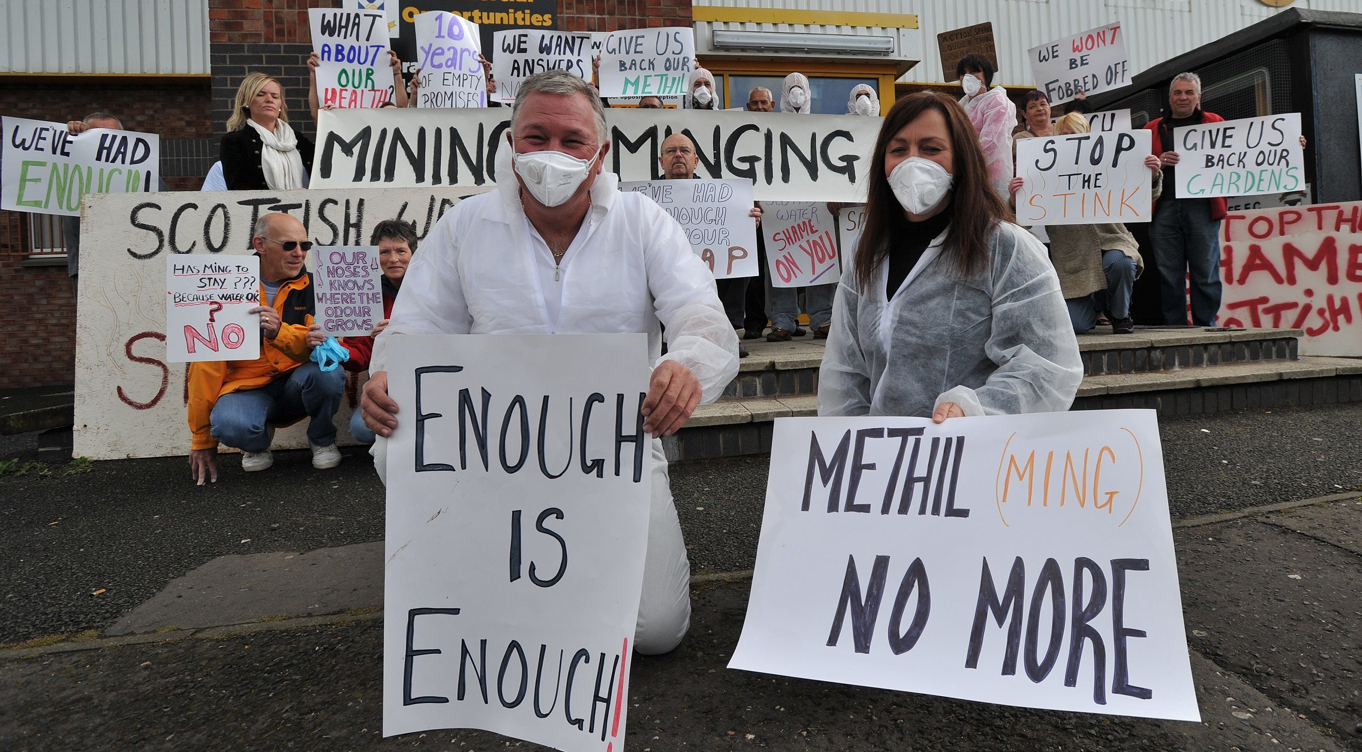 Methil ming protesters lobbied a meeting with Scottish Water in 2012