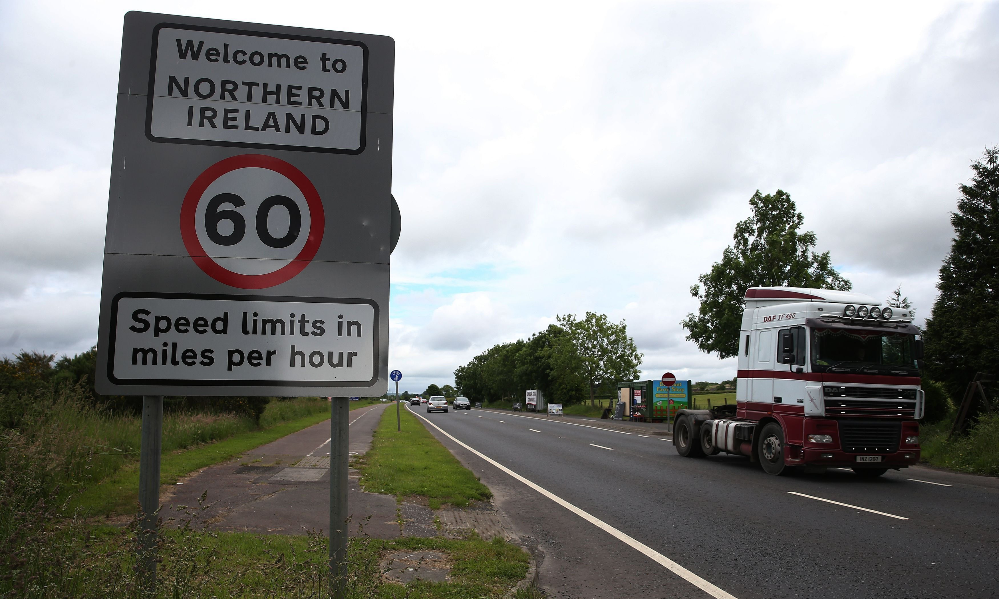 The UK Government is proposing an invisible border between the north and south of Ireland with checks but no border posts.