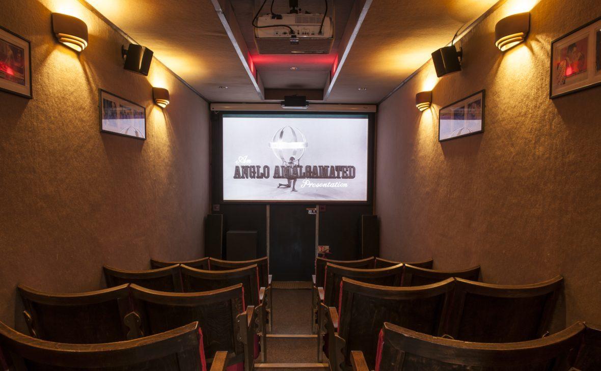 Seating area of mobile cinema.