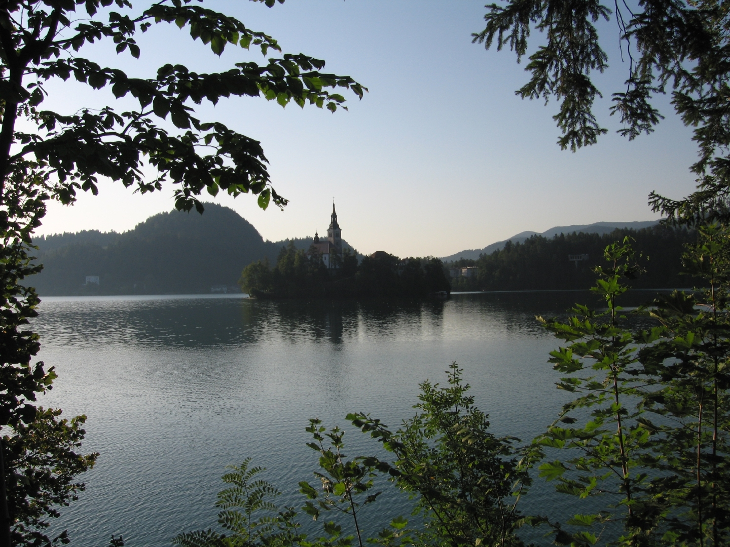 Picture postcard Lake Bled.
