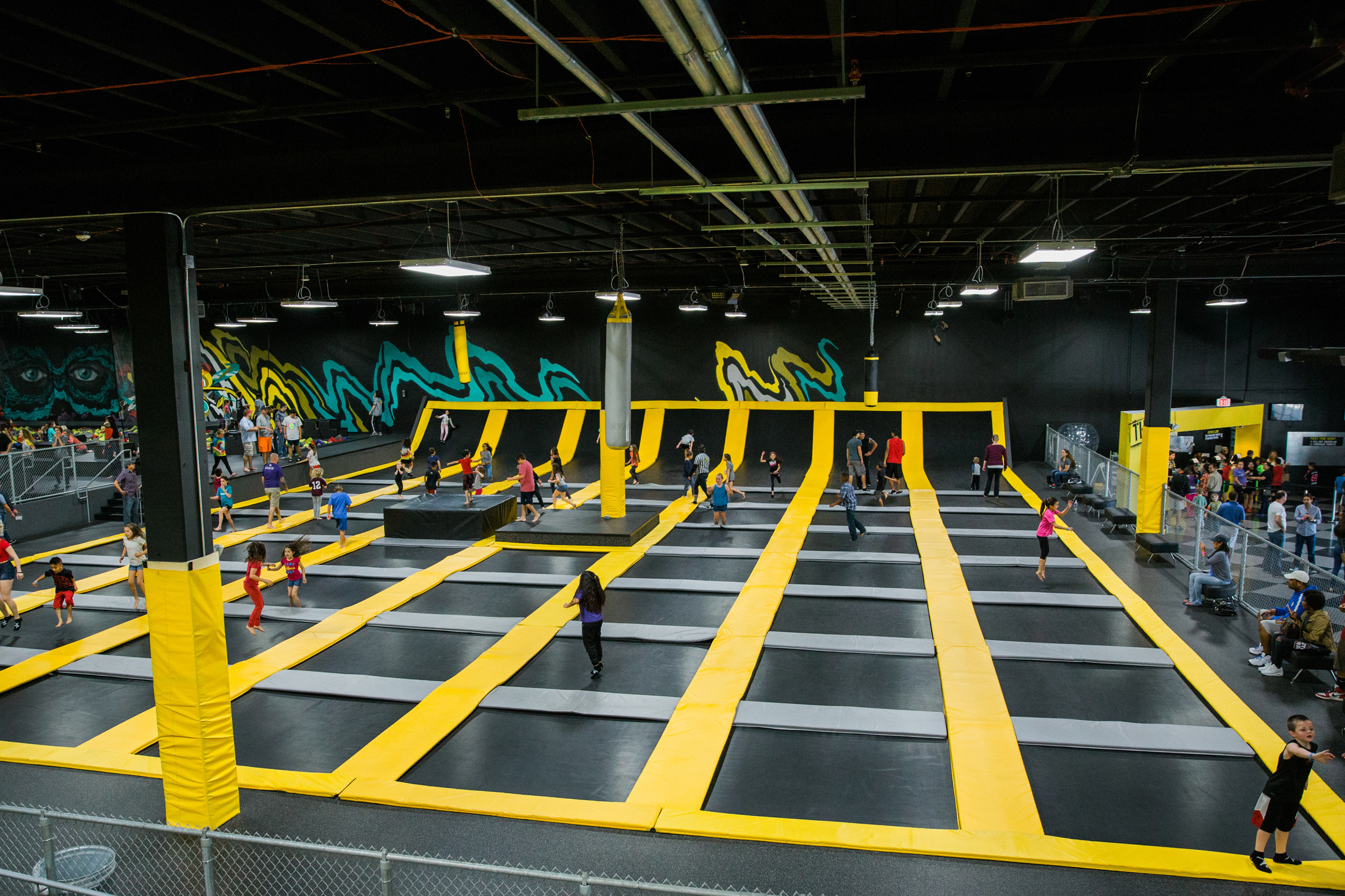 A Ryze trampoline park, one of which will soon be coming to Dundee.