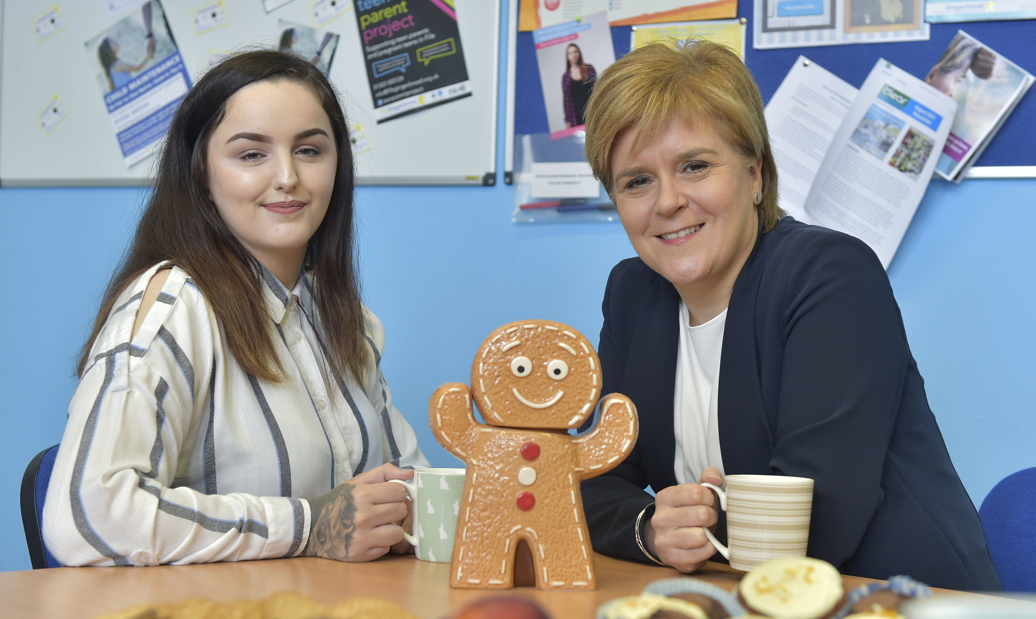 Charlotte Liddell with First Minister Nicola Sturgeon