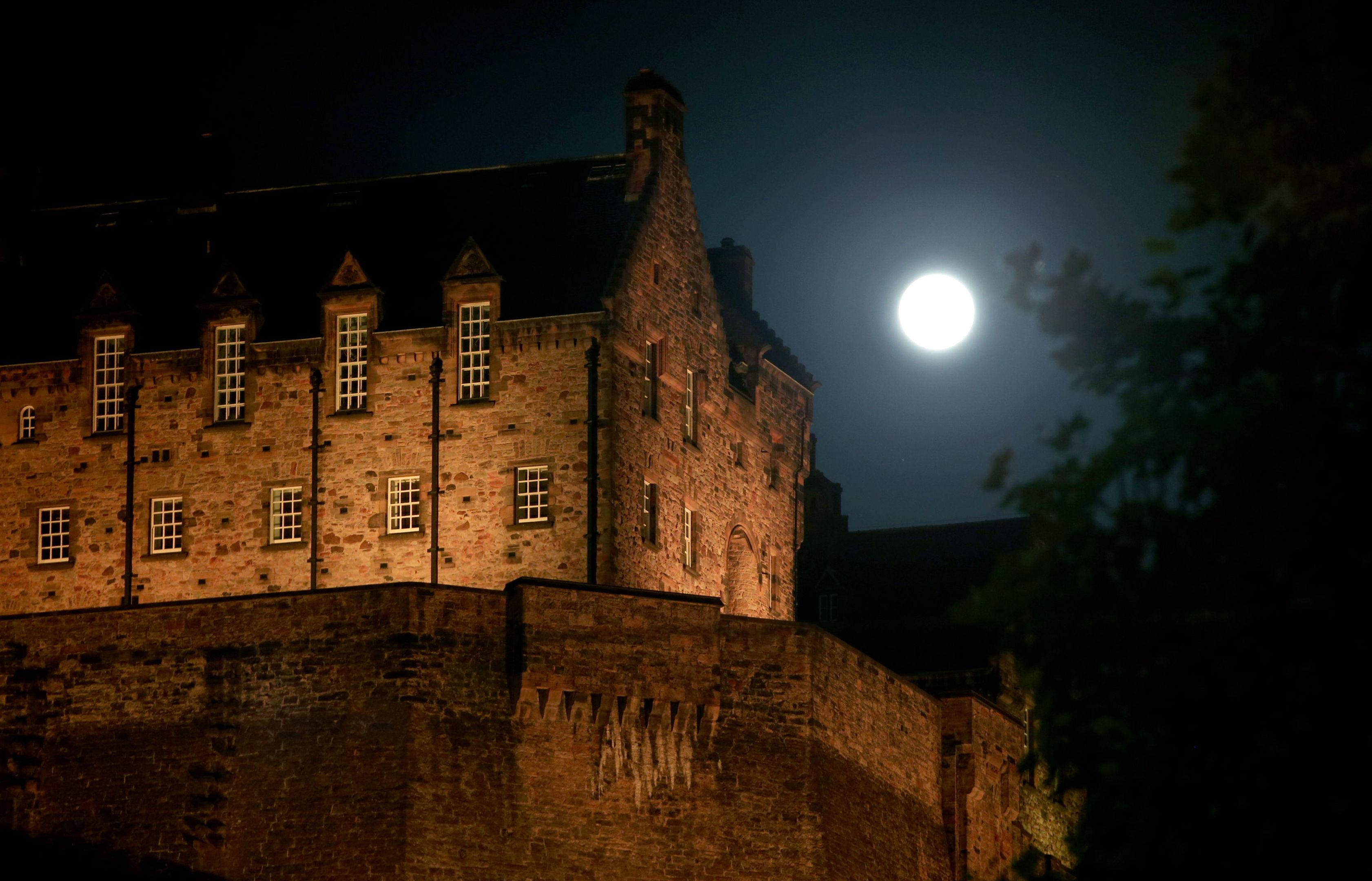 The August full moon in Edinburgh last night.