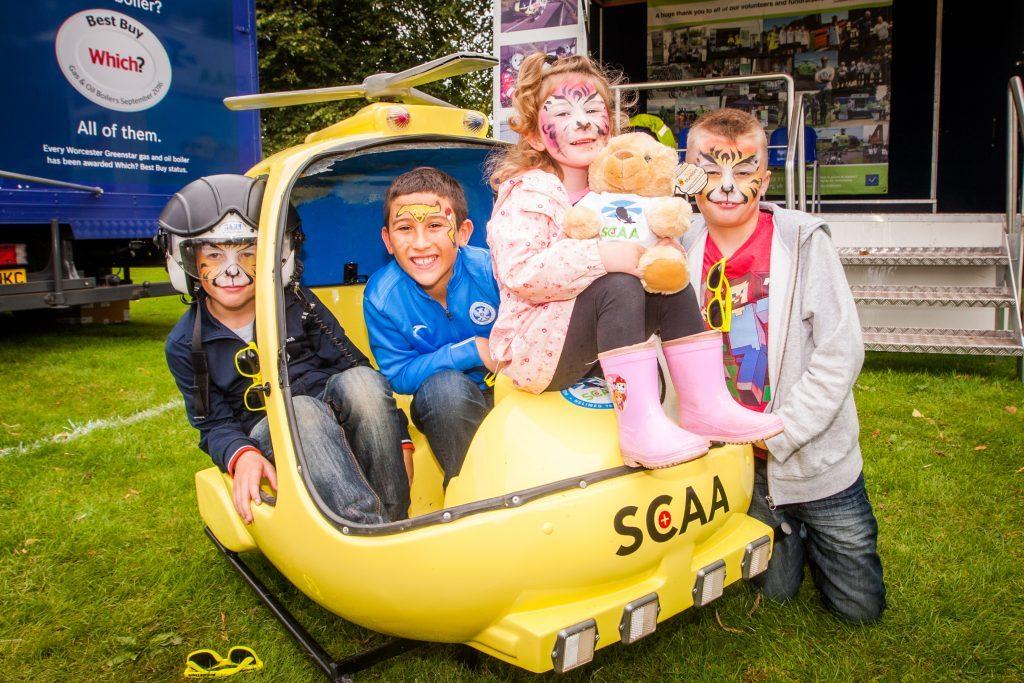 Liam Thomson (aged 7), Logan McRae (aged 9), Skye Moloney (aged 4) and Logan Thomson (aged 8, correct) all from Luncarty