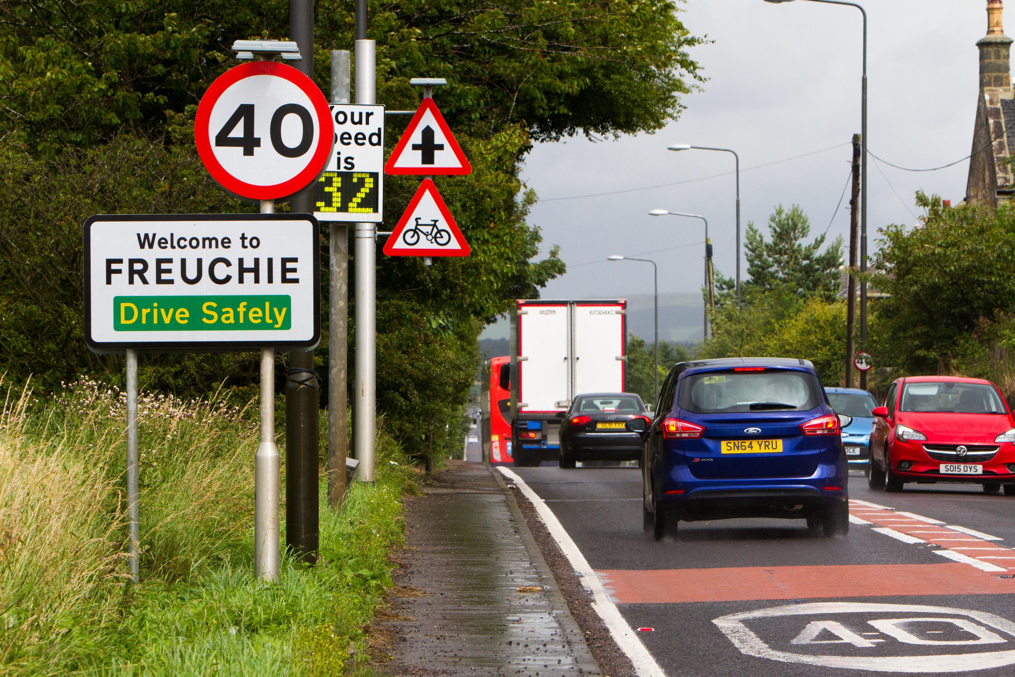 The A92 through Freuchie.