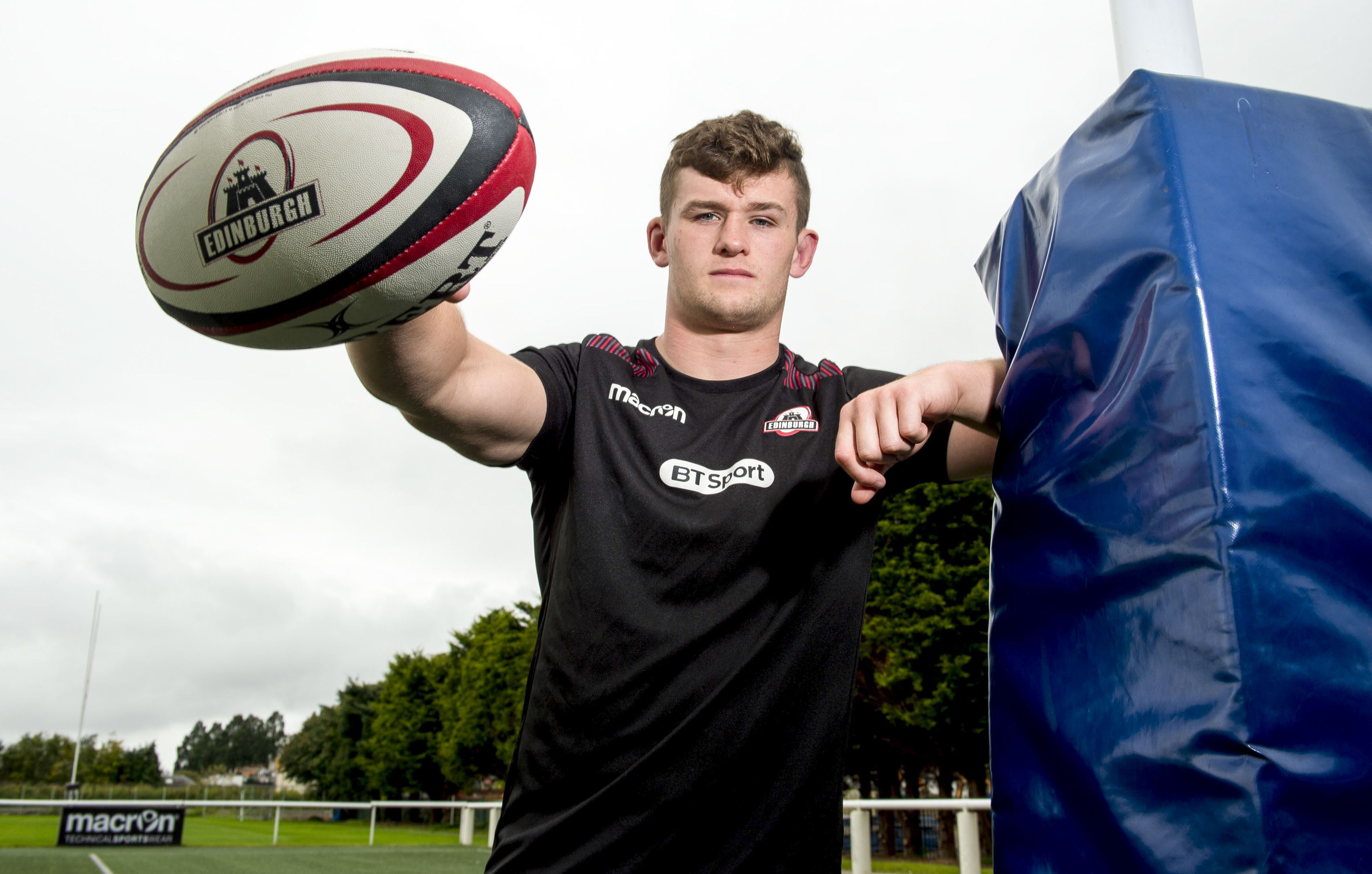 Magnus Bradbury, just 22, is the new Edinburgh club captain.