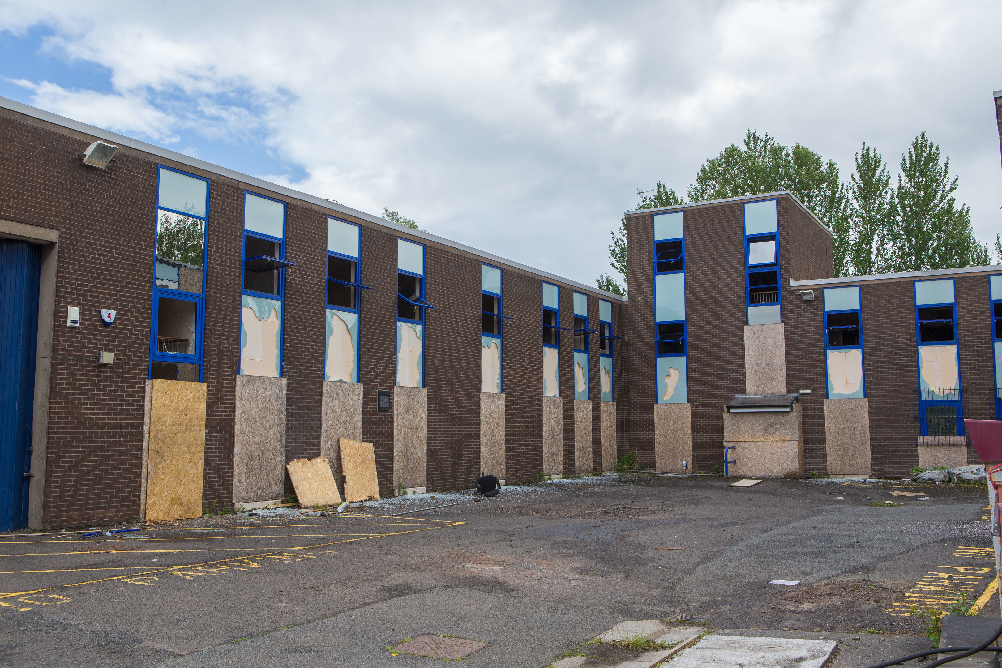 The former police station on Napier Road was set alight in June.