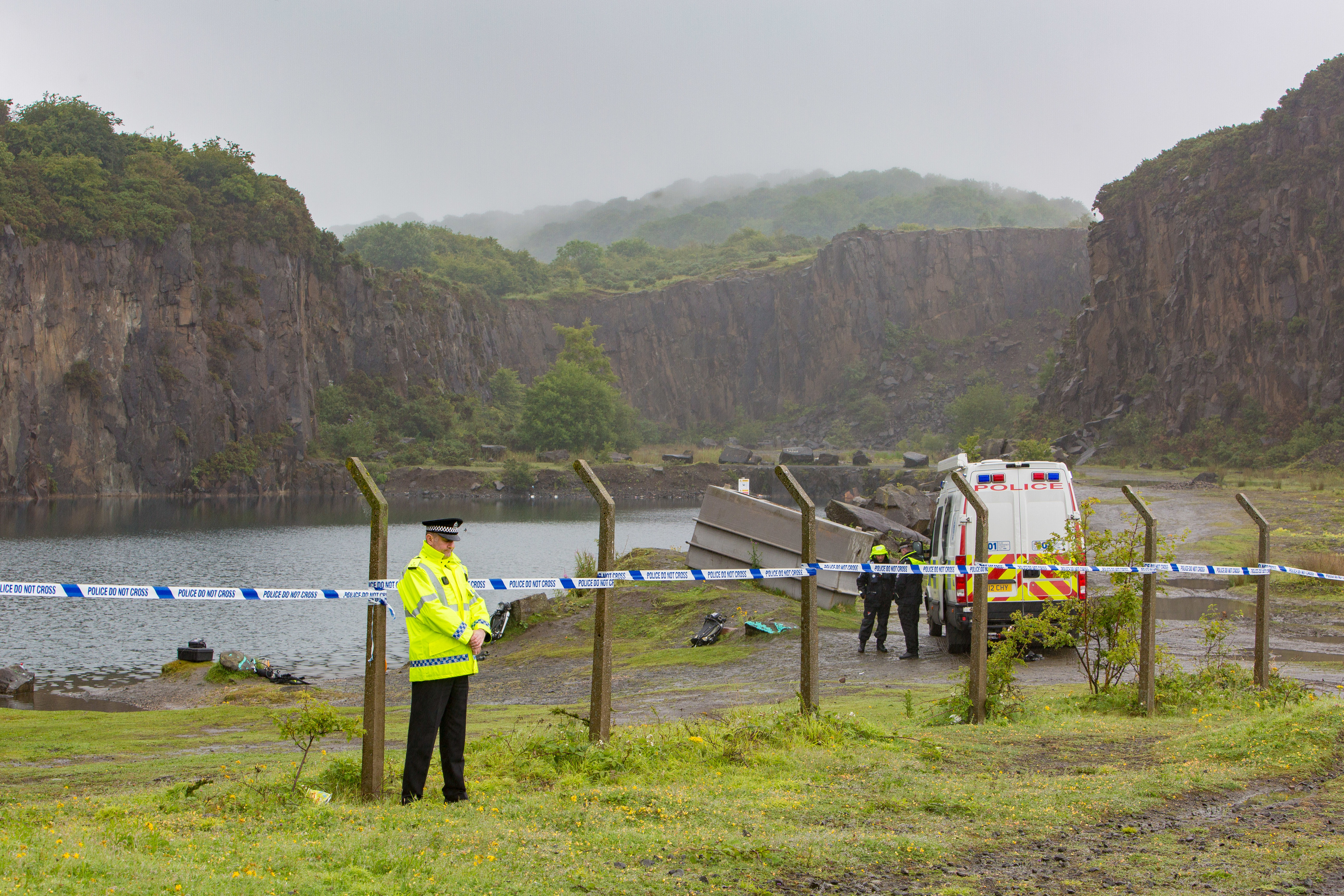 Prestonhill Quarry was the scene of another tragedy last month.