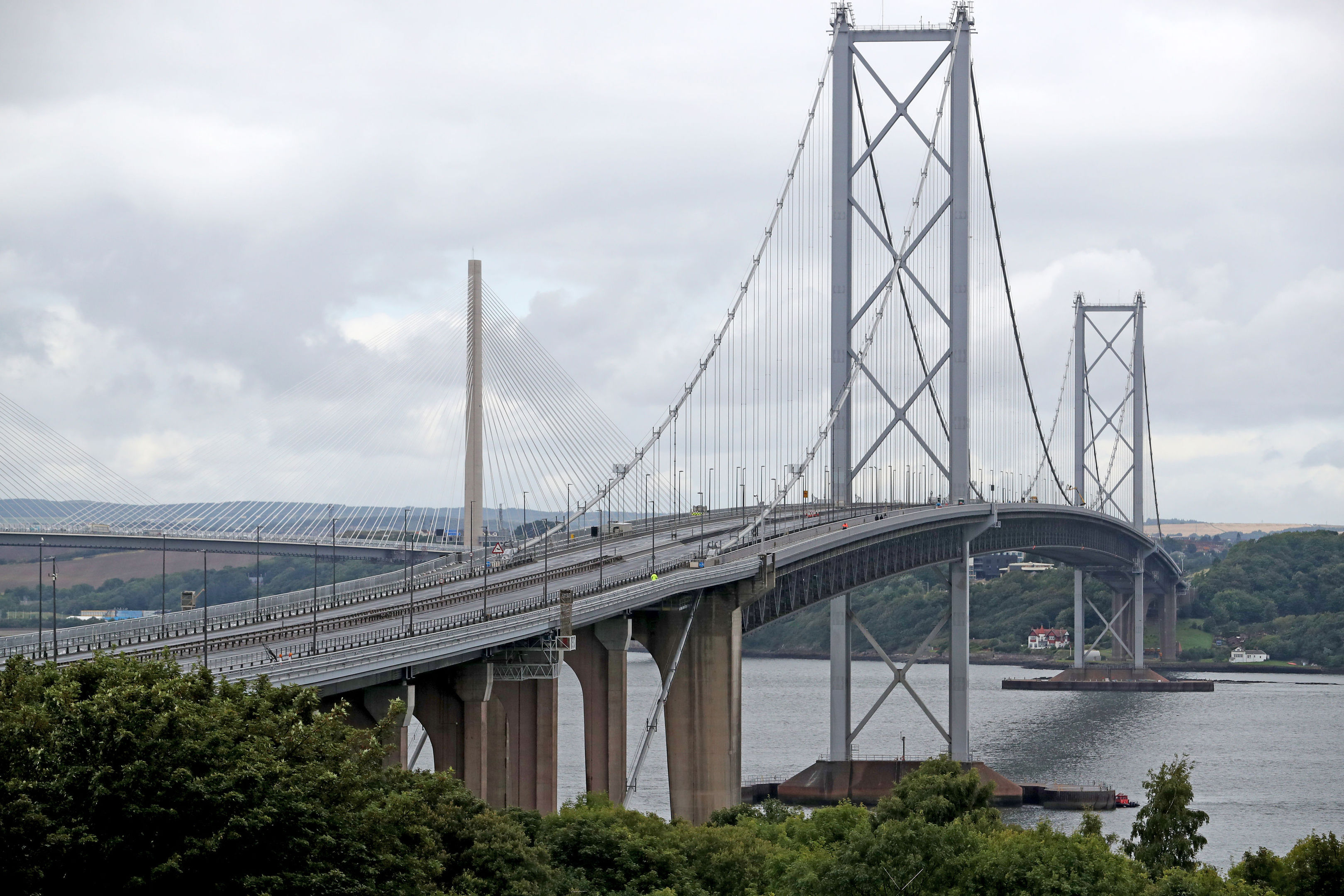 The Forth Road Bridge will be carrying far less traffic when it reopens.