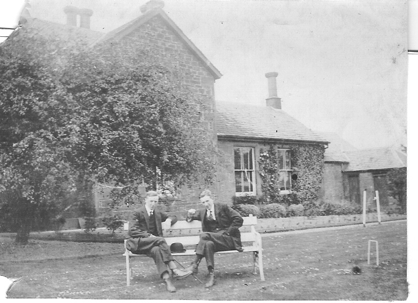 Walter, left, and Frank Johnston, pictured at Balgray Farmhouse in Dundee.
