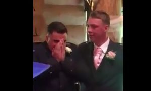 VIDEO: Watch emotional moment Arbroath groom broke down watching bride walk down the aisle