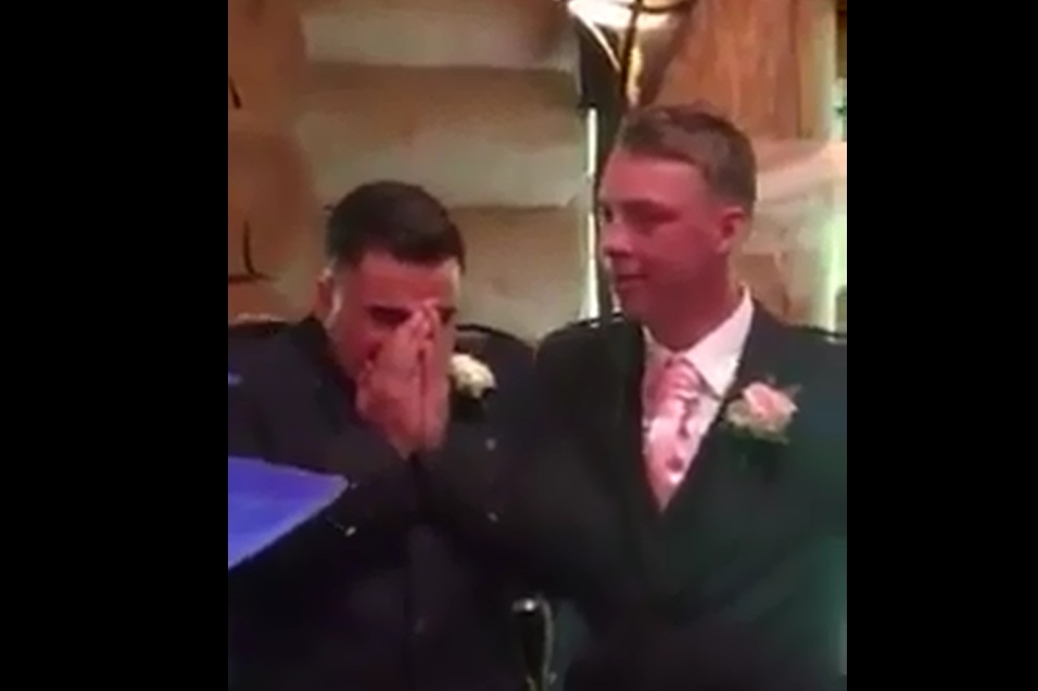 Mr Lichfield on seeing his beautiful bride approach