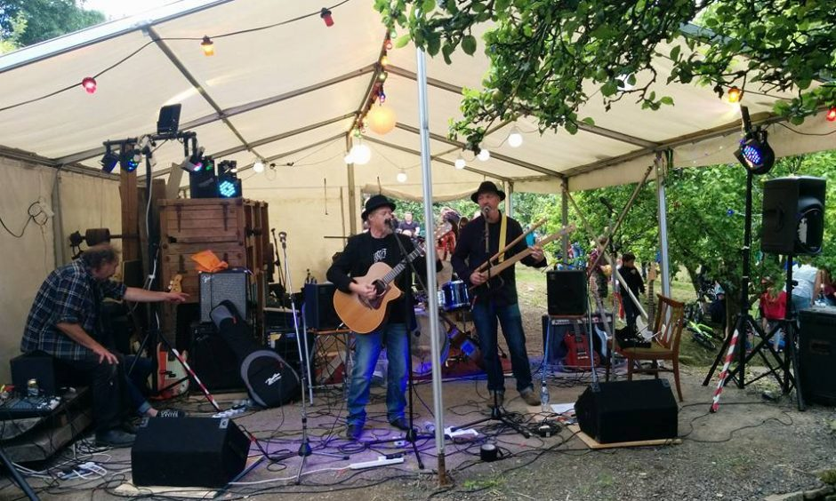 The Yonderlees playing last year's Music at the Mill event at Barry Mill