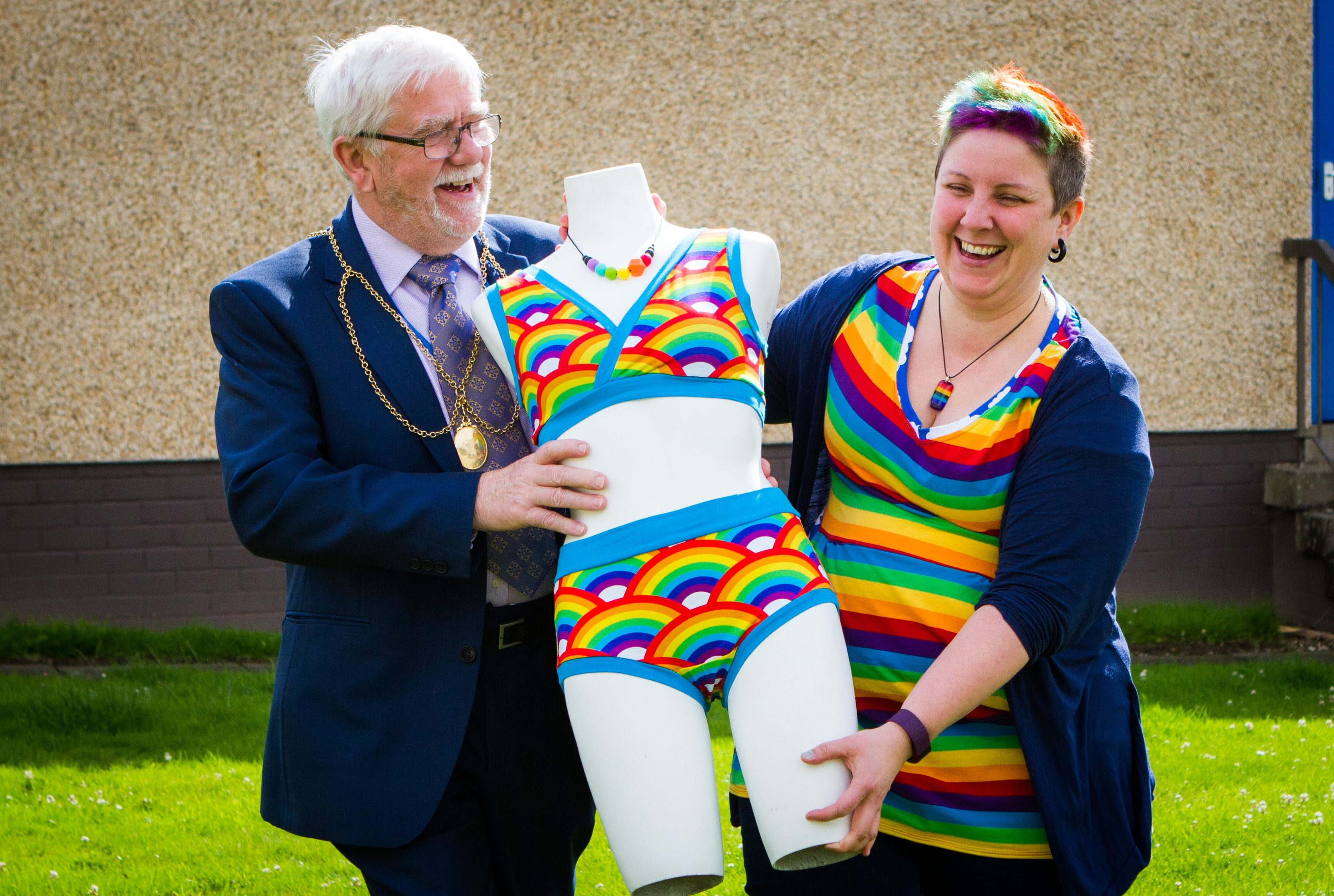 Kirsty Lunn with Perth Provost Dennis Melloy